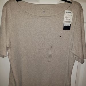 New a tags Tommy beige t shirt